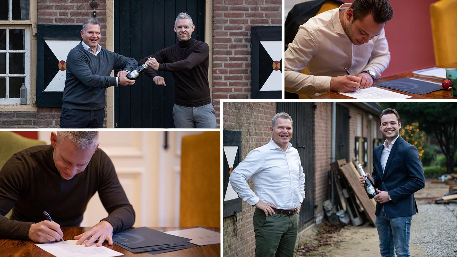 Nieuwe collega's Tom Martens en Kjeld van Kemenade